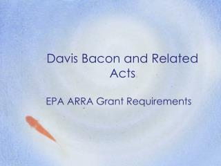 Davis Bacon and Related Acts