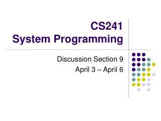 cs241  system programming