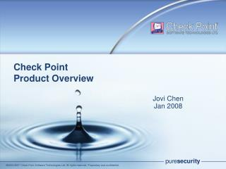 Check Point  Product Overview