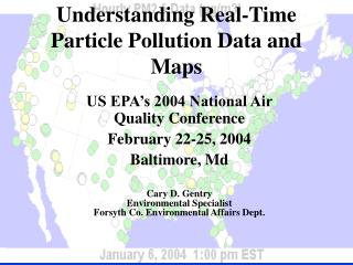 Understanding Real-Time Particle Pollution Data and Maps