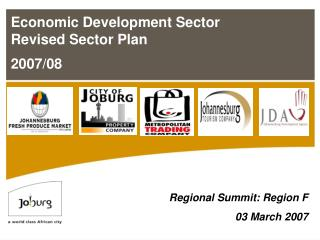 Economic Development Sector Revised Sector Plan   2007