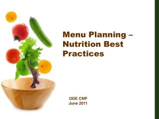Menu Planning   Nutrition Best Practices