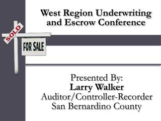 west region underwriting  and escrow conference