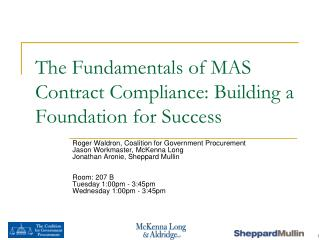 The Fundamentals of MAS Contract Compliance: Building a Foundation for Success