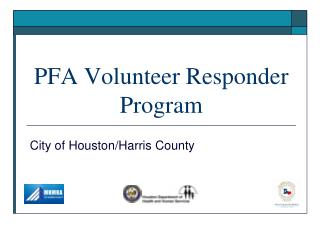 PFA Volunteer Responder Program