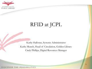 RFID at JCPL
