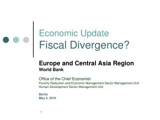 Economic Update Fiscal Divergence