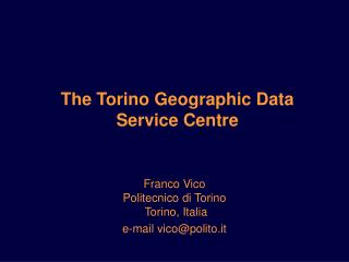 The Torino Geographic Data Service Centre