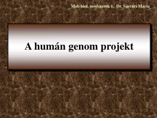 A hum n genom projekt