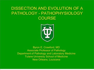 dissection and evolution of a pathology - pathophysiology course