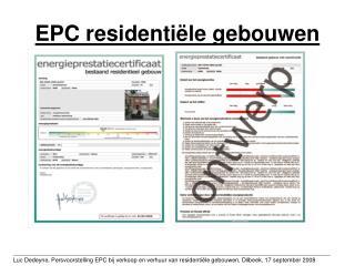 EPC residenti le gebouwen