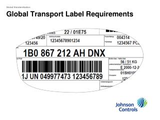 Global Transport Label Requirements