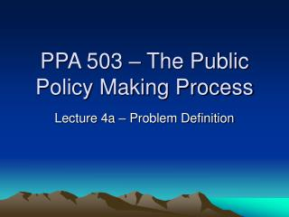 public policy making process pdf