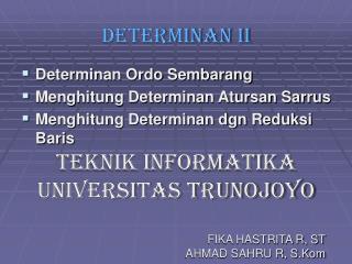 DETERMINAN II