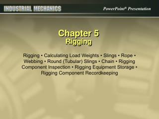 Chapter 5 Rigging