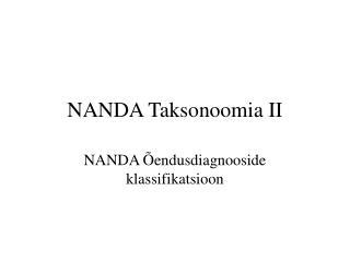 NANDA Taksonoomia II