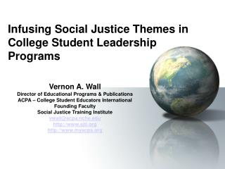 infusing social justice themes in  college student leadership programs