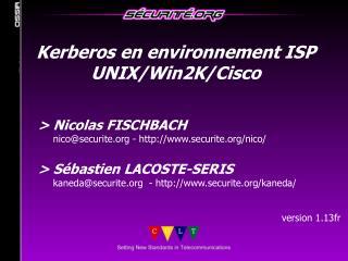 Nicolas FISCHBACH      nicosecurite - securite