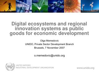 Digital ecosystems and regional innovation systems as public goods for economic development