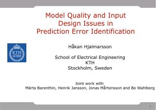 Model Quality and Input Design Issues in  Prediction Error Identification