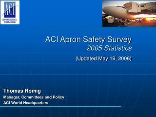 ACI Apron Safety Survey  2005 Statistics  Updated May 19, 2006
