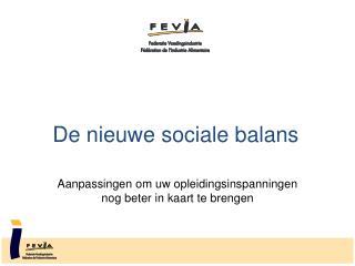 De nieuwe sociale balans