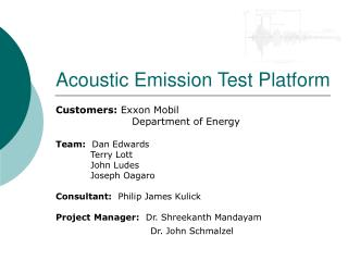acoustic emission test platform