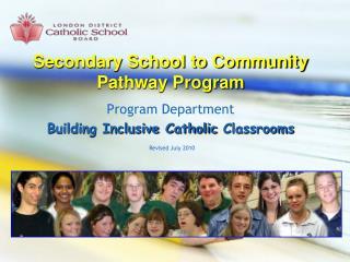 Secondary School to Community Pathway Program