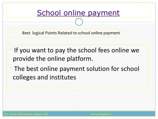 school Online Payment of Aviation In India