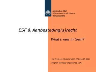 ESF  Aanbestedingsrecht