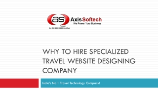 Why to Hire Specialized Travel Website Designing Company