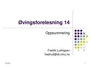 vingsforelesning 14