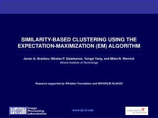 SIMILARITY-BASED CLUSTERING USING THE EXPECTATION-MAXIMIZATION EM ALGORITHM