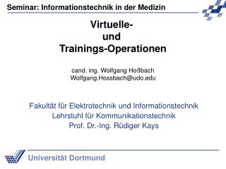 Virtuelle-  und  Trainings-Operationen
