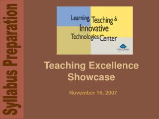 Teaching Excellence Showcase