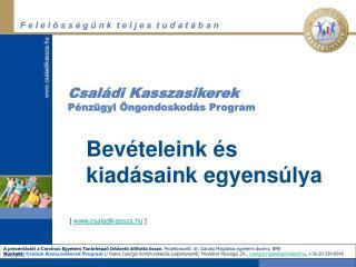 Csal di Kasszasikerek P nz gyi  ngondoskod s Program