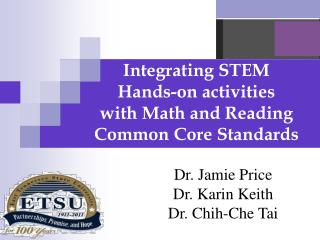 Integrating STEM  Hands-on activities  with Math and Reading Common Core Standards