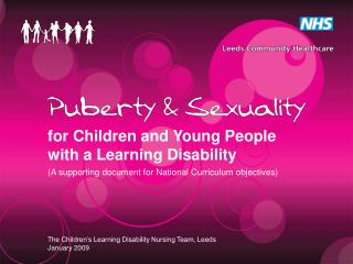 For Children and Young People with a Learning Disability A supporting document for National Curriculum objectives