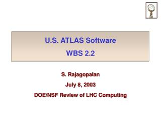 U.S. ATLAS Software WBS 2.2