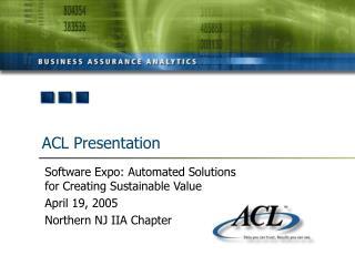 acl presentation