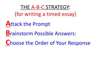Attack the Prompt Brainstorm Possible Answers: Choose the Order of Your Response