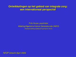 Ontwikkelingen op het gebied van integrale zorg: een internationaal perspectief