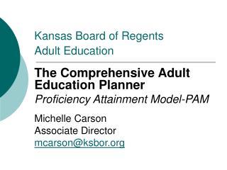 Kansas Board of Regents Adult Education