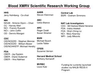 Blood XMRV Scientific Research Working Group