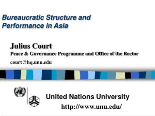 Bureaucratic Structure and  Performance in Asia