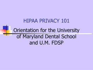 hipaa privacy 101