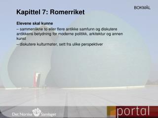 Kapittel 7: Romerriket