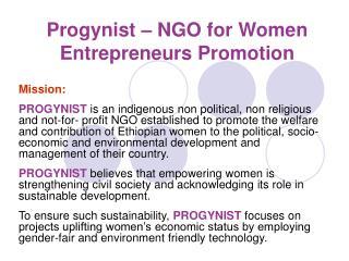 progynist   ngo for women entrepreneurs promotion