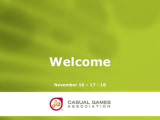 Casual Games Association ppt Template