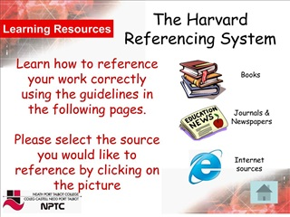 the harvard reference system